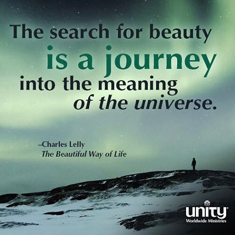 The search for beauty is a journey into the meaninghellip