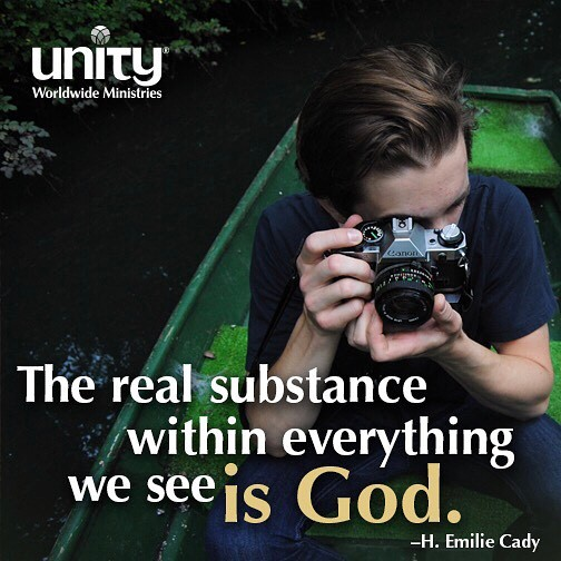 Does your lens reveal the God substance within everything? Unityhellip